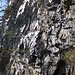 Die Felswand auf etwa 1200m