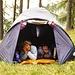 <b>Boscobello. Immagine d'archivio del 23.8.1998: in tenda con la famigliola.</b>
