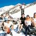 Foto di gruppo in vista del Rifugio Gnifetti