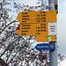 Hier beginnt nicht nur meine heutige Tour. Dies ist auch der erste Wegweiser auf der 'Route 5', dem Jurahöhenweg von Dielsdorf nach Borex (inzwischen verlängert nach Nyon) bei Genf. Den habe ich schon abgewandert, [tour51034 am Stück.] Die rote Ecke da am einen Wegweiser ist schon richtig, sie bezieht sich auf den anspruchsvollen Grat vom Lägerensattel nach Baden.