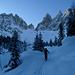 Forcella di Mesdi (Odle, Dolomites) : sortie de la forêt vers 2000m, on en prend plein les yeux !