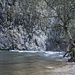 Hier stürzt das Wasser über die Kante beim Chute de la Verriere