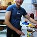 Nach dem ersten Besteigungsveruch vom Landeshöhepunkt Armeniens kochte David uns im Hostel erst einmal ein feines Essen.