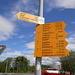 Wegweiser beim Bahnhof Häggenschwil-Winden