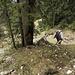 Dead end - da wären wir in üblen Schrofen gelandet - also steiler Abstieg und zurück für 50 Höhenmeter ...