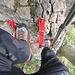 Klettersteigfeeling im Abstieg.