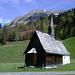 Das Kirchlein von Bad Hopfreben mit dem Tagesziel Üntschenspitze