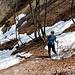 """nur noch wenig Schnee auf der Nordseite, <a href=""""http://www.hikr.org/gallery/photo121815.html?post_id=13103#1"""">vor 4 Jahren</a> war es einiges mehr"""