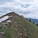 Die letzten Meter zum Gipfel des Faistenauer Schafberg