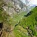 Vom gleichen Standort Blick talabwärts durchs Val Bavona