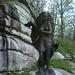 """...findet man alsbald diese leicht bekleidete Dame. Ganz gute Figur ... aber mit gut 2 1/2m Größe dann doch nicht ganz mein Fall  ;-))  Nachtrag: die Bronzestatue hat den Titel """"Mutter Natur"""" und stammt von einem Künstler aus Pfreimd."""