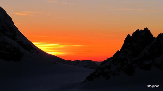 Sonnenuntergang auf der Planurahütte III
