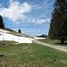 Schnee- und Krokusfelder wechseln sich ab