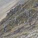 Im Abstieg zwischen Skarð und Gásadalur - Ausblick aus unmittelbarer Nähe des Passes auf das Gelände, durch welches der erste Abschnitts des Abstiegs vom Skarð (Pass) führt.