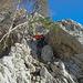 ...und schon gehts auf wunderbarem Jura Fels in die Höhe