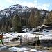 <b>Mi aspettavo più neve ad All'Acqua: di fatto, non ce n'è più, se non oltre il ponticello sul Ticino. Gli sciescursionisti devono portare gli sci in spalla per almeno 400 m. </b>