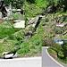 Hier, unweit des Ausstiegs von der Stägeru, gehts auf den Hüterpfad Richtung Hohtenn Dorf. Unscheinbar, nicht markiert, aber gut zu finden, wenn man sich diese Bilder einprägt