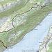 Kartenausschnitt mit Route
