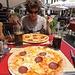 Verdientes Mittagessen auf der Piazza Grande in Locarno