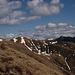 La lunga cresta verso il Bregagno, scendendo dalla Cima Pianchette