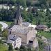 Die Kirche von Raron aus ungewohnter Perspektive
