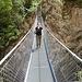 Kurzer Abstecher auf die Hängebrücke über den Jolibach