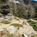 Das oberste Plateau von Pinaèsc mit Blick auf den Südgrat des Madone di Comedo