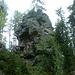 Der Augsburger Felsen - samt Klettersteig (auf der rechten Seite)