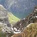 """Dalla """"bocchetta"""" sguardo verso il fondovalle della Bavona"""