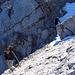 Hinter der Mittelspitze sind etliche Meter Wegverlauf ungesichert und ausgesetzt, insbesondere bei Schnee.