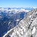 Tiefblick in die noch winterliche Watzmann Ostwand.