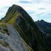 sulla Bàgola Bianca,vista sulla cresta finale per la vetta del monte Pisanino..