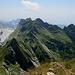 panorama dalla vetta del pisanino,riconoscibili il monte Cavallo e il monte Contrario,a sx il monte Tambura....