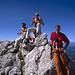 Adi, Sven und Franz an der Punta Masaré.