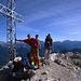 Franz, Adi und Sven auf dem Gipfel der Rotwand (2806m) im Rosengartenmassiv.