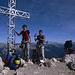 Gipfelbild mit Tobias, Adi und Sven auf dem Rotwand-Gipfel.