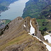 [u Omega3] steigt die letzten Meter des Westgrates hoch zum Gipfel des Sichelchamms