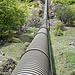 Mehrmals quere ich die Druckleitung der Etsch-Kraftwerke. Das Wasser stammt aus dem Vernagt-Stausee.