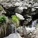 Quelle - aus dem Fels hinaus sprudelnd