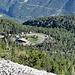 Blick auf den Campingplatz Mont Serein