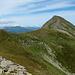 il crinale verso il monte Cusna...