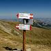 bivio alla sella sotto l'ultimo pendio per la vetta del monte Cusna...