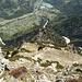 Blick den Aufstiegsweg zurück nach Vandans