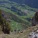Blick hinunter zur Alp Ramsere