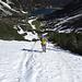 Perfekter Trittschnee beim Aufstieg zur Coburger Hütte