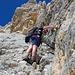 Bild von Uwe: [u 83_Stefan] beim Kraxeln an der Larchetkarspitze.<br />(c) Uwe