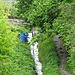 das Ende des suonenweges, hier wird sie ins Tal abgeleitet