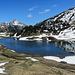 am Kalbelesee mit Blick in die Allgäuer Alpen