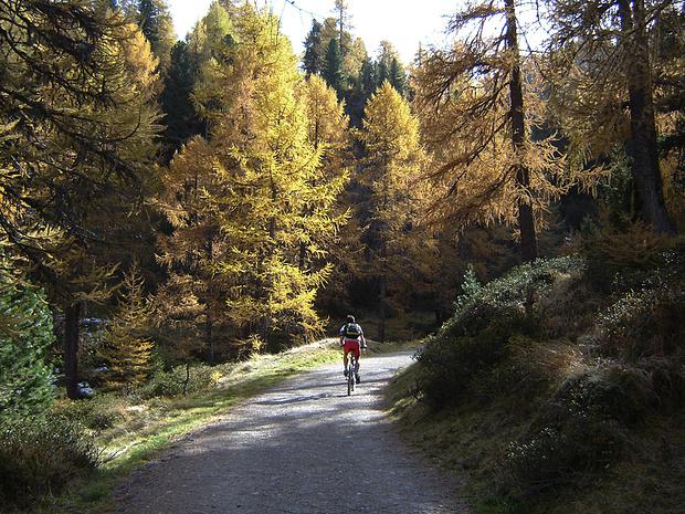 der Lägh da Cavloc ist auf dem Fahrweg auch leicht mit dem Mountainbike zuerreichen