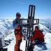 Tourenleiter Erich auf dem Gipfel des  Rheinwaldhorn 3402m